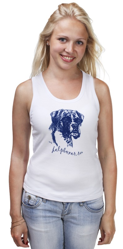 Майка классическая Printio Boxer blue 9814 modal elastic comfortable breathable boxer underwear for men royal blue size xxl