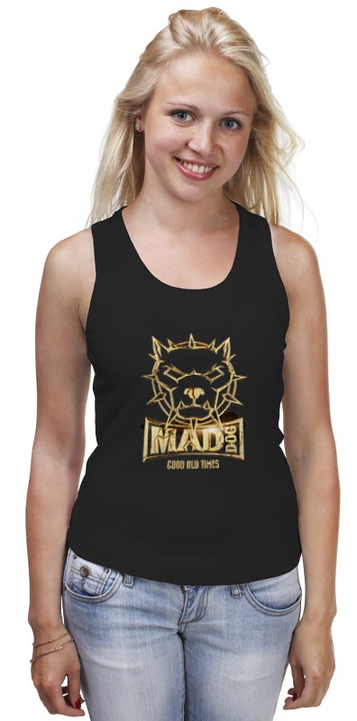 Майка классическая Printio Mad dog gold майка борцовка print bar mad dog