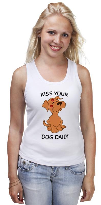 Майка классическая Printio Поцелуй собаку собаку фален в москве
