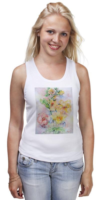 Майка классическая Printio Мальва. букет футболка классическая printio муравьед с цветами