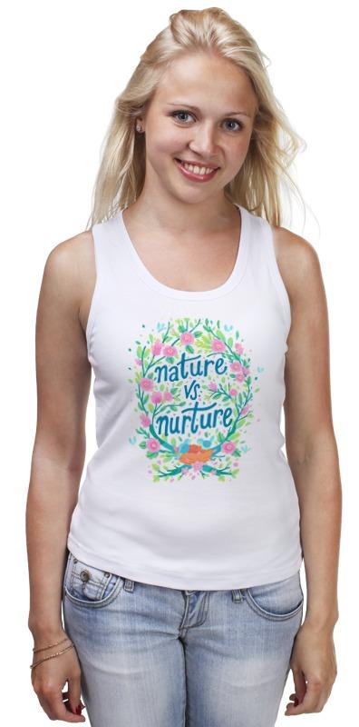 Майка классическая Printio Nature vs nurture blanc nature майка