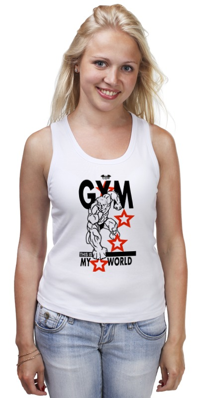 Майка классическая Printio Gym this is my world! футболка wearcraft premium printio gym this is my world page 2 page 7