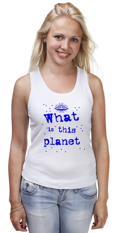 Майка классическая Printio Что это за планета! свитшот print bar планета сокровищ