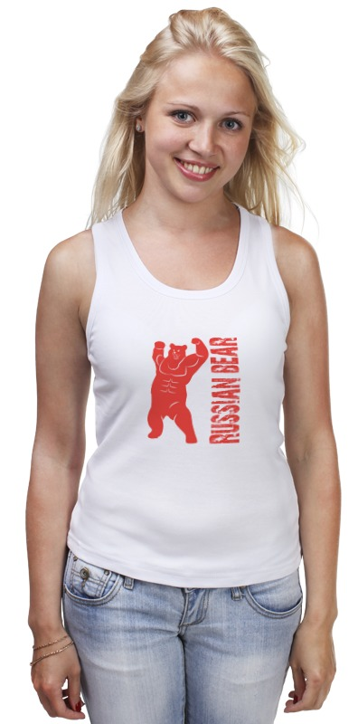 Майка классическая Printio Russian bear футболка для беременных printio putin love russian bear