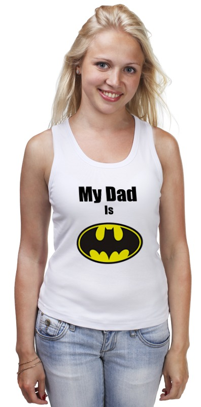 Майка классическая Printio My dad is batman сумка printio my dad is batman