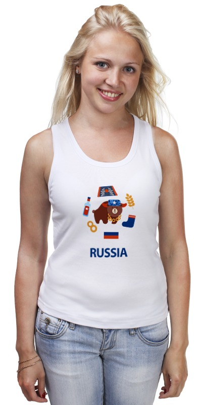 Майка классическая Printio Россия (russia) майка борцовка print bar russia nebula