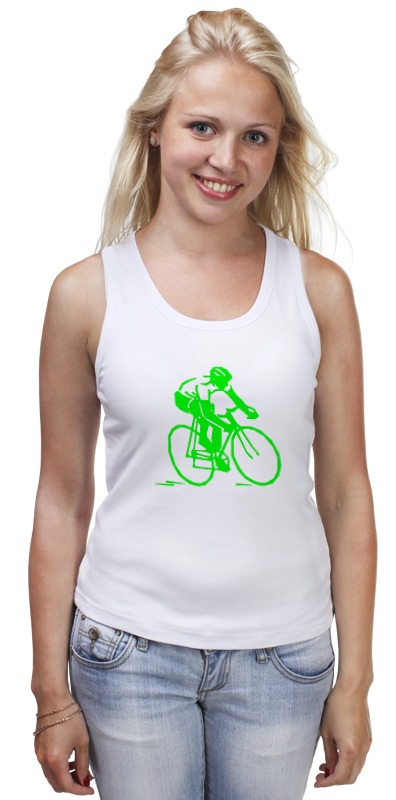 Майка классическая Printio Велосипедист майка print bar велосипедист