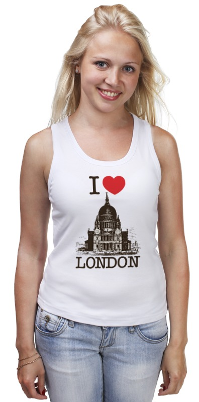 Майка классическая Printio I love london mahalia london