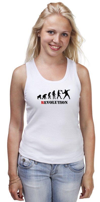 Майка классическая Printio Evolution - revolution revolution or evolution