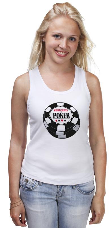 Майка классическая Printio Покер (poker) карты пластиковые игральные poker club для покера 1173971