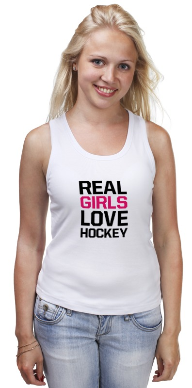 Майка классическая Printio Реальные девушки любят хоккей