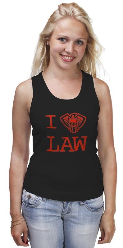 Майка классическая Printio Я закон (судья дредд) в я максимов закон 9
