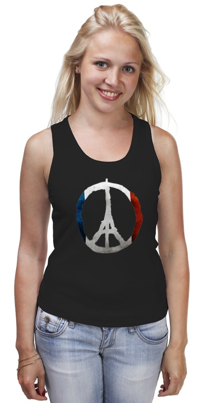 Майка классическая Printio Мир парижу (peace for paris) human rights as means for peace