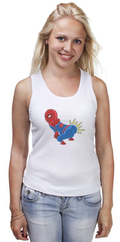 Майка классическая Printio Человек паук dickie toys игрушечный трек человек паук против ящера подарок трамплин человек паук