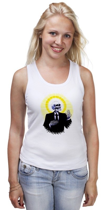 Майка классическая Printio Holy skeleton футболка классическая printio holy skeleton