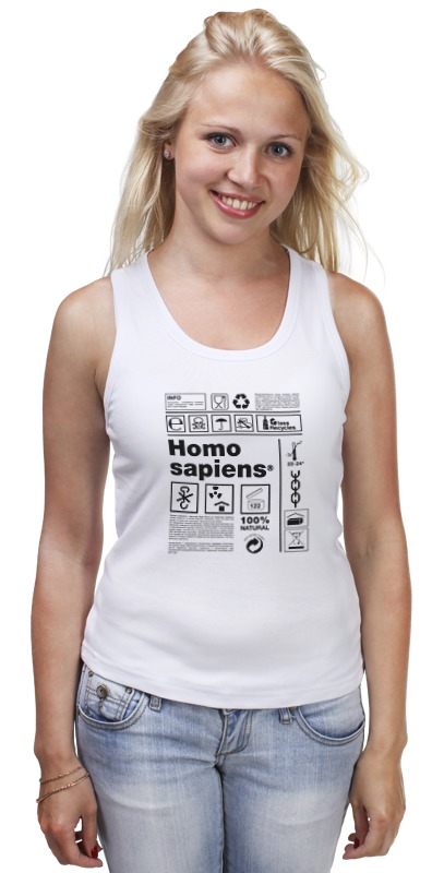 Майка классическая Printio Homo sapiens лужков ю урсов в homo sapiens захвати вселенную