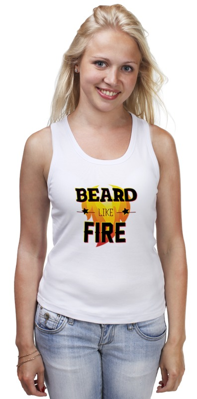 купить Майка классическая Printio Beard like fire по цене 1013 рублей