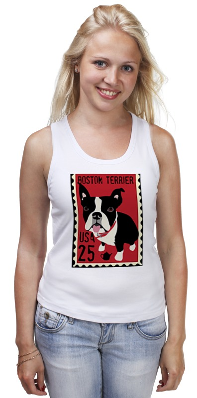 Майка классическая Printio Boston terrier