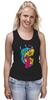 """Майка (Женская) """"Радиоактивный пес"""" - футболки с собаками, креативные футболки с собакой купить, разноцветные собаки"""