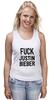 """Майка (Женская) """"Fuck Justin Bieber"""" - секс, звезды"""