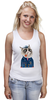 "Майка (Женская) ""kitty"" - cat, котэ, трубка, hipster, sailor, моряк"