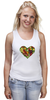 """Майка (Женская) """"Fruit Heart"""" - heart, фрукты, fruit, вегетарианство, vegan"""