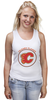 "Майка (Женская) ""Calgary Flames,"" - хоккей, nhl, нхл, калгари флеймз, calgary flames"