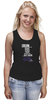 "Майка (Женская) ""ФитПит.рф - Спортивное питание"" - спорт, фитнес, кросфит, стильная майка, майка для спорта"