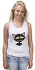 """Майка (Женская) """"«капризный кот»"""" - кот, животные, рисунок"""