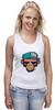 """Майка классическая """"MNK Design. Original Design """" - обезьяна, monkey, smoking, сигарета"""