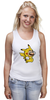 "Майка (Женская) ""Mario x Pokemon"" - пародия, покемон, пикачу, марио, pikachu"