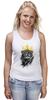 """Майка (Женская) """"Король Лев"""" - животные, корона, лев, царь зверей"""