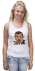 "Майка (Женская) ""Mr.Bean"" - мистер бин, mr bean, актёр, роуэн аткинсон, rowan atkinson"