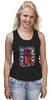 "Майка (Женская) ""10th флаг UK (Доктор Кто)"" - doctor who, bbc, флаг, uk, доктор кто"