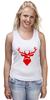 """Майка (Женская) """"Ho Ho Ho..."""" - christmas, deer, reindeer"""