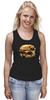 """Майка (Женская) """"Мопс Бургер"""" - еда, pug, собака, мопс, бургер"""
