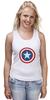 """Майка классическая """"Marvel"""" - комиксы, супергерой, marvel, марвел, капитан америка, captain america"""