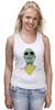 "Майка (Женская) ""Психоделика"" - zombie, зомби, green, shades"
