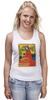 "Майка (Женская) ""ретро постер"" - арт, ретро, иллюстрация, постер, афиша"
