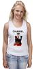 "Майка (Женская) ""Chanel"" - прикол, юмор, духи, бренд, fashion, коко шанель, brand, coco chanel, шанель, perfume"