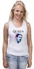 "Майка (Женская) ""Freddie Mercury - Queen"" - queen, фредди меркьюри, freddie mercury, куин, rock music"