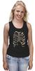 """Майка (Женская) """"Рёбра"""" - скелет, кости, рёбра"""