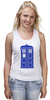 """Майка (Женская) """"Tardis (Тардис)"""" - сериал, doctor who, tardis, доктор кто, машина времени, телефонная будка, time machine, police box, phone box, полицейская будка"""