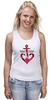 """Майка (Женская) """"Красный якорь"""" - море, якорь, anchor, sailor"""