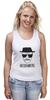 """Майка (Женская) """"Heisenberg (Breaking Bad)"""" - арт, во все тяжкие, walter white, уолтер уайт, heisenberg"""