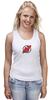 "Майка (Женская) ""NJ Devils"" - хоккей, спортивная, nhl, нхл, devils, нью джерси, nj"