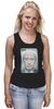 "Майка (Женская) ""Putin Joker"" - стиль, патриот, путин, putin"