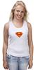 "Майка (Женская) ""Супермен"" - comics, супермен, superman"