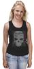 """Майка классическая """"grunge skull"""" - skull, череп, hand-made"""