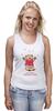 """Майка (Женская) """"Happy Valentnine's Day"""" - bear, медведь, мишка, обними меня, hug me"""